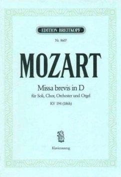 Missa brevis D-Dur KV 194 (186h), Klavierauszug