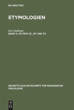 Zu FEW 22¹, 22² und 23 - Baldinger, Kurt