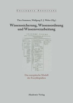Wissenssicherung, Wissensordnung und Wissensverarbeitung - Stammen, Theo / Weber, Wolfgang (Hgg.)