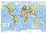 Stiefel Wandkarte Kleinformat Weltkarte politisch, deutschsprachig, ohne Metallstäbe