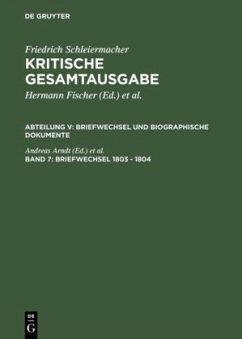 Briefwechsel 1803 - 1804 - Schleiermacher, Friedrich