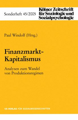 Finanzmarkt-Kapitalismus - Windolf, Paul (Hrsg.)