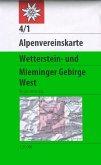 Alpenvereinskarte Wetterstein- und Mieminger Gebirge West