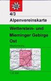 Alpenvereinskarte Wetterstein- und Mieminger Gebirge Ost