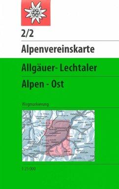 Alpenvereinskarte Allgäuer-Lechtaler Alpen Ost