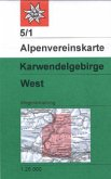 Alpenvereinskarte Karwendelgebirge West