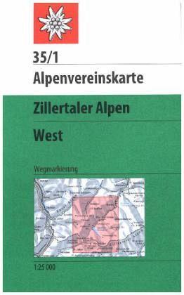 Alpenvereinskarte Zillertaler Alpen, West