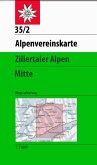 Alpenvereinskarte Zillertaler Alpen Mitte