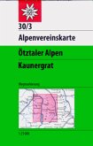 Alpenvereinskarte Ötztaler Alpen, Kaunergrat