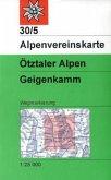 Alpenvereinskarte Ötztaler Alpen, Geigenkamm