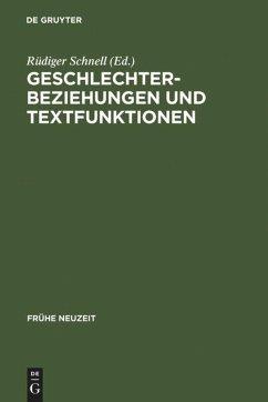 Geschlechterbeziehungen und Textfunktionen