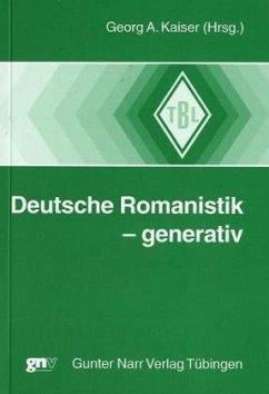 Deutsche Romanistik - generativ - Kaiser, Georg