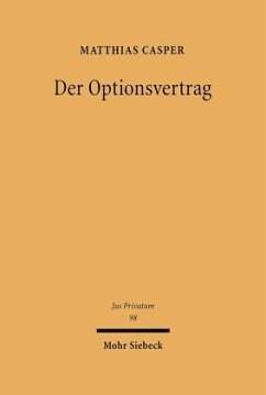 Der Optionsvertrag - Casper, Matthias