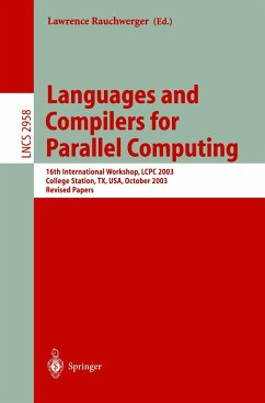 Languages and Compilers for Parallel Computing - Rauchwerger, Lawrence (Ed. )