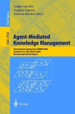 Agent-Mediated Knowledge Management - Elst, Ludger van / Dignum, Virginia / Abecker, Andreas (Bearb.)