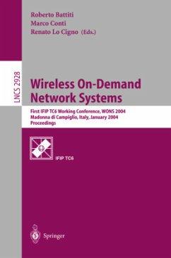 Wireless On-Demand Network Systems - Battiti, Roberto / Conti, Marco / LoCigno, Renato (Bearb.)