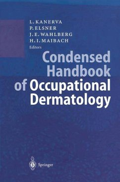 Condensed Handbook of Occupational Dermatology - Kanerva, Lasse / Elsner, Peter / Wahlberg, Jan E. / Maibach, Howard I. (Hgg.)