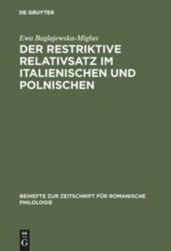 Der restriktive Relativsatz im Italienischen und Polnischen