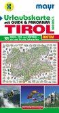 Mayr Karte Urlaubskarte Tirol, m. Guide & Panorama