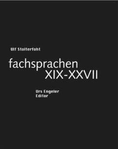 fachsprachen XIX-XXVII - Stolterfoht, Ulf
