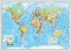 Stiefel Wandkarte Großformat Weltkarte, politisch mit Flaggenrand, englische Ausgabe, ohne Metallstäbe