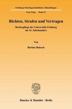 Richten Strafen Und Vertragen Von Bettina Bubach Fachbuch Bücherde