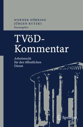 Tvöd Kommentar Von W Dörring überarb J Kutzki H U Richter