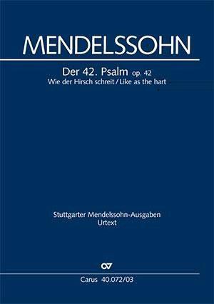Psalm 42 op.42, Klavierauszug - Mendelssohn Bartholdy, Felix