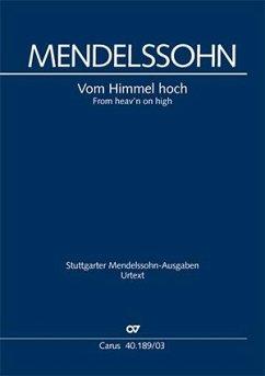 Vom Himmel hoch (Weihnachtskantate), Klavierauszug - Mendelssohn Bartholdy, Felix