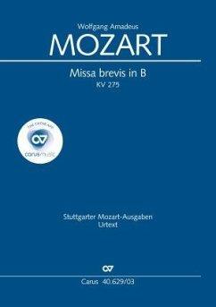 Missa brevis B-Dur KV 275 (272b), Klavierauszug (Janz)