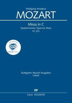 Missa C-Dur KV 220 (196b) (Spatzenmesse), Klavierauszug (Over)