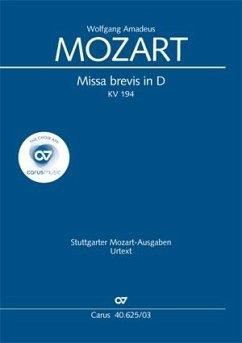 Missa brevis D-Dur KV 194, Klavierausgabe