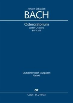 Osteroratorium D-Dur BWV 249, Klavierauszug - Bach, Johann Sebastian