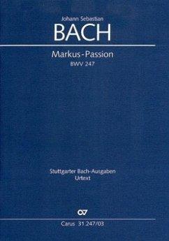 Markuspassion BWV 247, Klavierauszug - Bach, Johann Sebastian