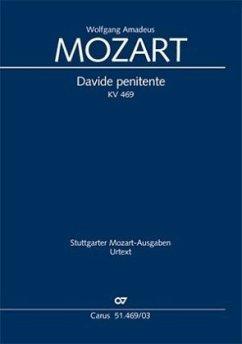 Davide penitente KV 469, Kantate, Klavierausgabe - Mozart, Wolfgang Amadeus