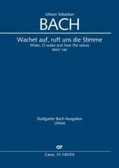 Wachet auf, ruft uns die Stimme / Kantate Nr.140 Es-Dur, Klavierauszug - Bach, Johann Sebastian