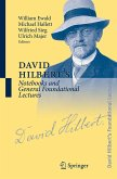 David Hilbert's Notebooks and General Foundational Lectures