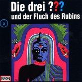 Die drei Fragezeichen und der Fluch des Rubins / Die drei Fragezeichen - Hörbuch Bd.5 (1 Audio-CD)