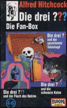 die drei fragezeichen folgen 4 6 die drei fragezeichen box 2 3 cassetten von alfred. Black Bedroom Furniture Sets. Home Design Ideas