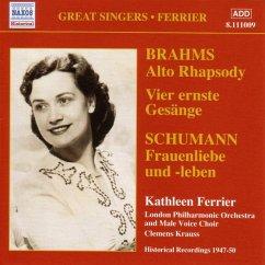 Altrhapsodie/Vier Ernste Gesänge - Kathleen Ferrier/London Philharmonic Orchestra