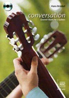 conversation, für 2 Gitarren, m. Audio-CD