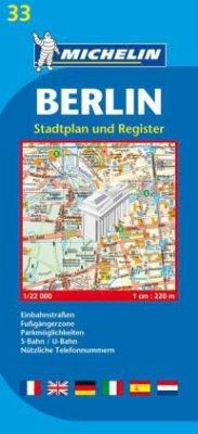 Michelin Karte Berlin, Stadtplan und Register