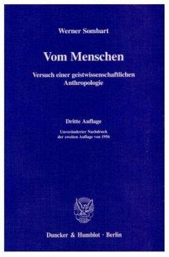Vom Menschen - Sombart, Werner