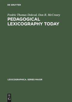 Pedagogical Lexicography Today