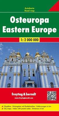 Freytag & Berndt Autokarte Osteuropa. Europa del Este. Oost Europa; Eastern Europe; Europe de l´ Est; Europa orientale