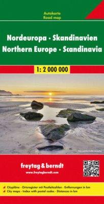 Nordeuropa - Skandinavien, Straßenkarte 1:2 Mio.; Europa del Norte, Escandinavia; Noord-Europa, Scandinavie. Northern Eu
