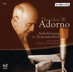 Aufarbeitung der Vergangenheit, 5 Audio-CDs - Adorno, Theodor W.