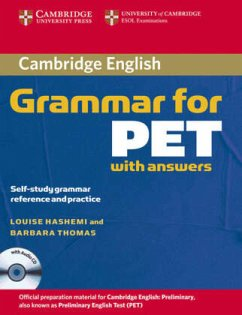 Cambridge Grammar for PET. Book with answers and Audio CD - Hashemi, Louise; Thomas, Barbara