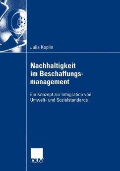 Nachhaltigkeit im Beschaffungsmanagement - Koplin, Julia