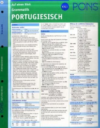 pons grammatik auf einen blick portugiesisch b. Black Bedroom Furniture Sets. Home Design Ideas